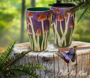 Cypress Mushroom Mugs