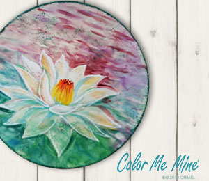 Cypress Lotus Flower Plate