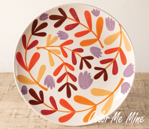 Cypress Fall Floral Charger