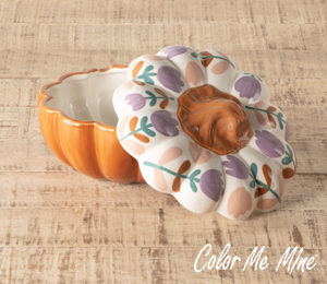 Cypress Floral Pumpkin Box