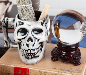 Cypress Antiqued Skull Mug